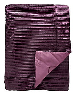 Pleated Faux Silk Throw