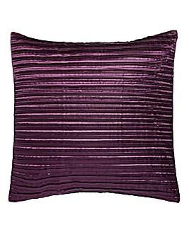 Pleated Faux Silk Square Cushion