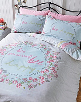 Mia 180 Cotton Percale Duvet Cover Set