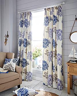 Millie Floral Pencil Pleat Curtains