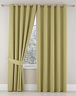 Plain-Dye Sateen Lined Pencil Curtains