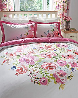 Bright Floral Printed Duvet Cover Set