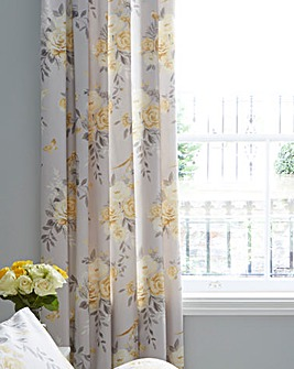 Birdcage Blossom Eyelet Lined Curtains