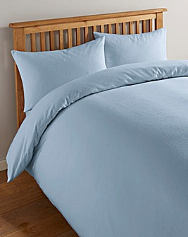 Value Plain Dyed Flannelette Duvet Cover