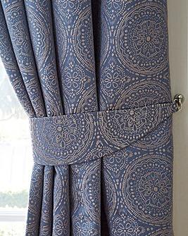 Estow Textured Jacquard Tie-Backs