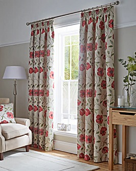 Carmen Luxury Floral lined Curtain