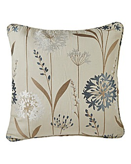 Santorini Floral Jaquard Filled Cushion