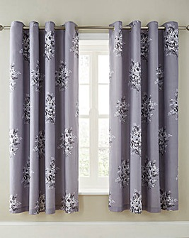 Clare Lined Eyelet Curtains