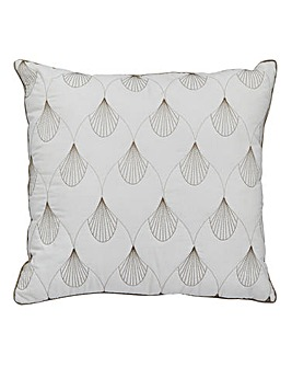 Harper Embroidered Filled Square Cushion