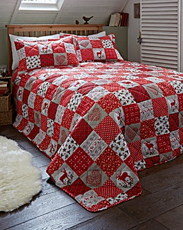 Festive Patchwork Throwover & Pillowsham