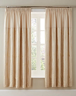 Lyra Jacquard lined Curtains And Ties