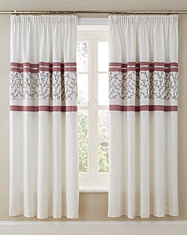 Pippa Pleated Lined Pencil Pleat Curtain