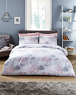 Ash Reversible Printed Duvet Cover Set