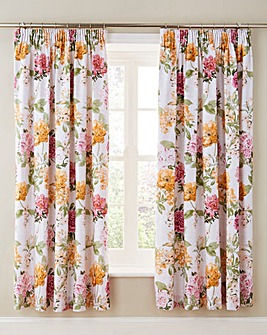 Kitty Cotton Lined Pencil Pleat Curtains
