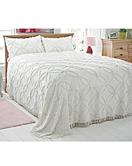 Flower Of Life Candlewick Bedspread Set