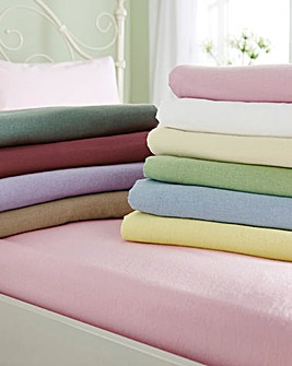 Extra Deep Flannelette Fitted Sheet 15in