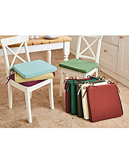 Kitchen Square Seat Pad Cotton 2 Pack