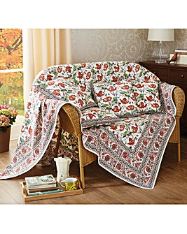 Cotton Poppy Throws 2 Pack