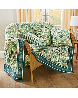 Cotton Ivy Leaf Throw 2 Pack
