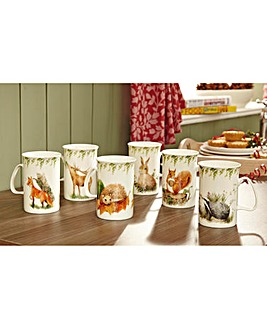 British Wildlife Mug Set