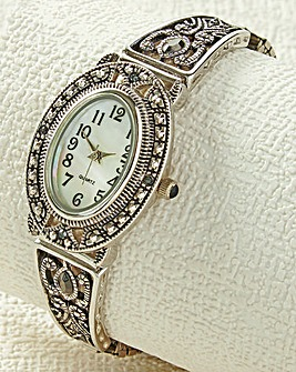 Marcasite and Crystal Watch