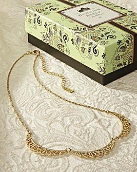 Gold Belle Epoch Scallop Collar Necklace