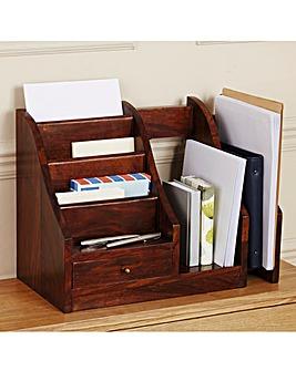 Sheesham Wood Desk Tidy