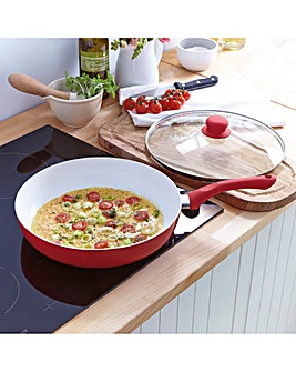 Deep Frying Pan with Lid 28cm