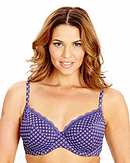 2 Pack Wired Plunge Latte Purple Bra