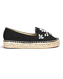 Sole Diva Jewelled Espadrille E Fit