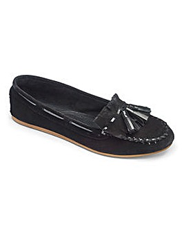 Sole Diva Leather Moccasins EEE Fit