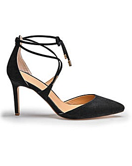 Sole Diva Ankle Tie Court Shoe EEE Fit