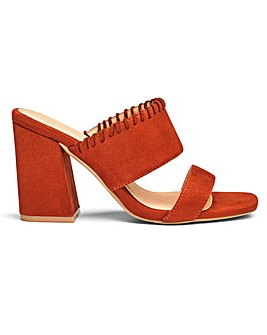 Sole Diva Whipstitch Mule E Fit