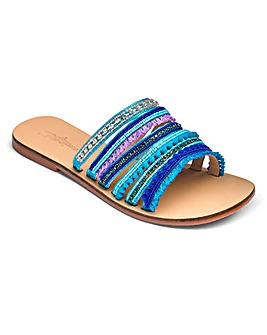 Joe Browns Jewel Detail Mules EEE Fit