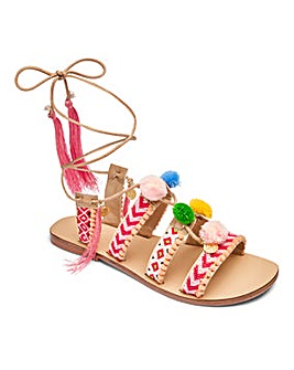 Sole Diva Pom Pom Sandals E Fit