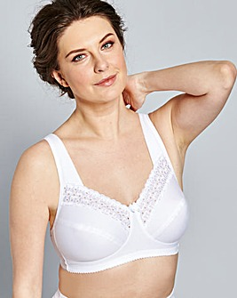 Miss Mary Non Wired Firm Support Bra Wht