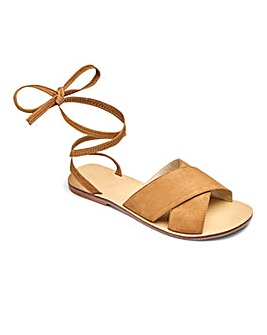 Sole Diva Leather Tie Up Sandals E Fit
