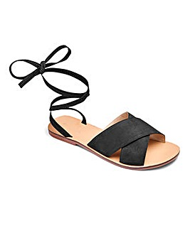 Sole Diva Leather Tie Up Sandals EEE Fit