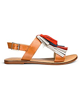 Sole Diva Leather Tassel Sandals EEE Fit