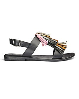 Sole Diva Leather Tassel Sandals E Fit