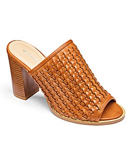 Glamorous Woven Mule D Fit