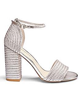 Glamorous Block Heel Sandal D Fit