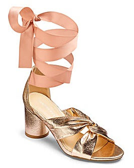 Glamorous Tie Up Heeled Sandal D Fit