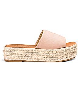 Glamorous Flatform Mule Sandal D Fit