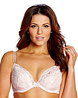 Shapely Figures Ivory Pink Plunge Bras
