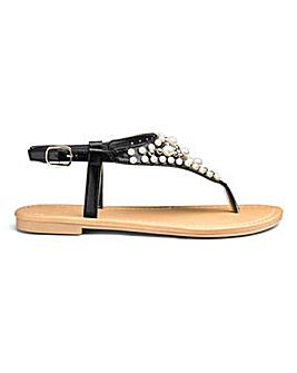 Sole Diva Gina Pearl Sandal EEE Fit