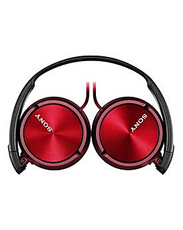 Sony ZX310 On-Ear Headphones - Red