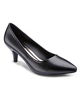 Heavenly Soles Basic Court Shoes EEE Fit
