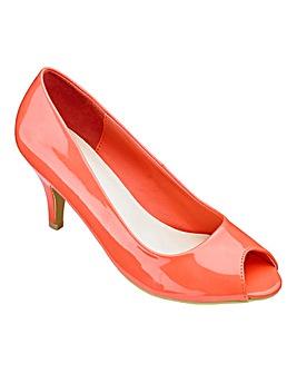 Heavenly Soles Peep Toe Shoes EEE Fit