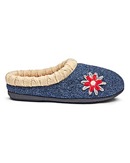 Padders Freesia Mule Slippers EE Fit